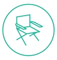 Folding chair line icon vector image