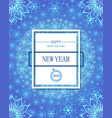 happy new year poster or flayer white snowflakes vector image vector image