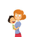 happy young mother hugging her daghter vector image