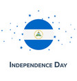 independence day of nicaragua patriotic banner vector image vector image