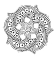 Mandala for coloring book pages ornament vector image