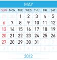 may calendar vector image vector image