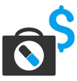 Medical Business Flat Icon vector image