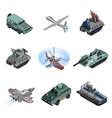 Military Equipment Isometric vector image vector image