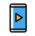 mobile music player linecolor vector image vector image