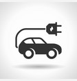 monochromatic electric car icon with hovering vector image vector image
