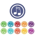 Music signs colored set 2 vector image vector image