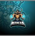 ninja esport mascot logo design vector image vector image