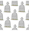 old gravestone with cracks seamless pattern vector image