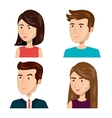 people persons thinking icon vector image vector image