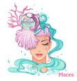 pisces as a girl isolated on white background vector image vector image