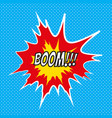 pop art comics boom speech bubble vector image vector image