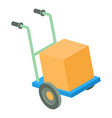 post cart icon isometric 3d style vector image