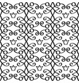 princess linear black pattern with crowns vector image vector image