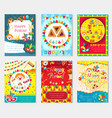 purim carnival set poster invitation flyer vector image vector image