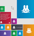 Rabbit icon sign buttons Modern interface website vector image