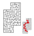 rectangular labyrinth with an input and an exit vector image