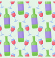 red wine flat seamless pattern vector image vector image