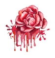 rose hand drawn painted vector image