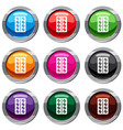 round pills in a blister pack set 9 collection vector image vector image