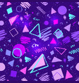 seamless ultraviolet geometric pattern vector image
