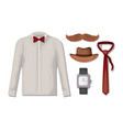 set male accessories icons vector image vector image