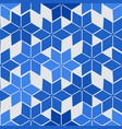 simple abstract pattern blue colored stylized vector image
