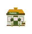 small trattoria building exterior isolated on vector image vector image