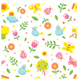 Spring Season Object Icons Seamless Pattern vector image