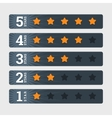 star rating signs in flat style with numbers vector image vector image