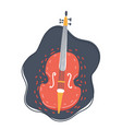 the double bass on dark vector image vector image