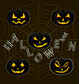 the theme halloween vector image vector image