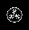 triskelion or triskele round symbol celtic spiral vector image vector image