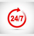 twenty four seven arrow icon vector image vector image
