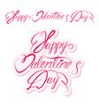 valentine day calligr 3 380 vector image vector image