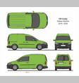 vw caddy kasten starline 2015-present vector image vector image
