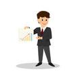cartoon smiling businessman in suit vector image