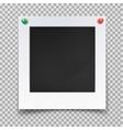 Blank image backdrop or vintage photo frame vector image