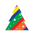 Modern Christmas Tree Icon vector image