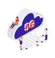 5g internet concept vector image