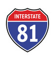 81 route sign icon road 81 highway vector image vector image