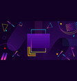 abstract geometric ultraviolet background modern vector image vector image