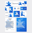 abstract people set of templates for different vector image
