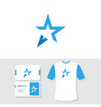 abstract star logo business card and t shirt vector image