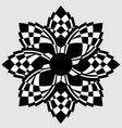 alternating black and white petals vector image