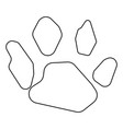 animal footprint icon black color vector image vector image