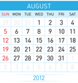August calendar vector | Price: 1 Credit (USD $1)
