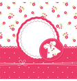 Baby girl shower with dress vector image