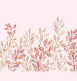 beige pink plant and leaf wedding decoration vector image vector image