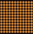 black and orange houndstooth seamless pattern vector image vector image